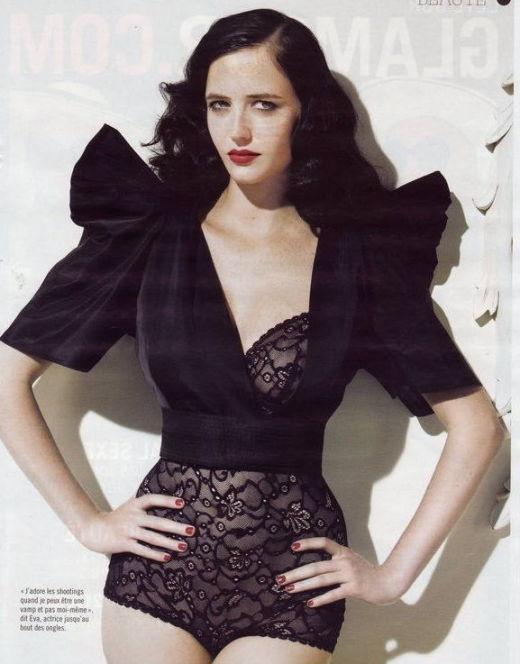 Фото Евы Грин в нижнем белье из журналов