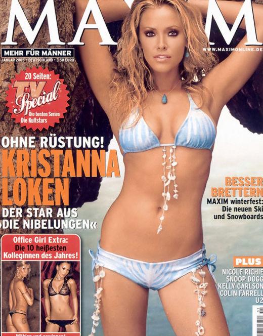 Горячие фото Кристанны Локен в нижнем белье из «Максим» и других журналов