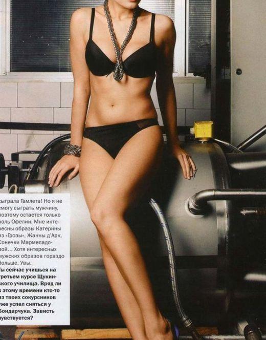 Горячие фото Юлии Снигирь в нижнем белье из журнала FHM