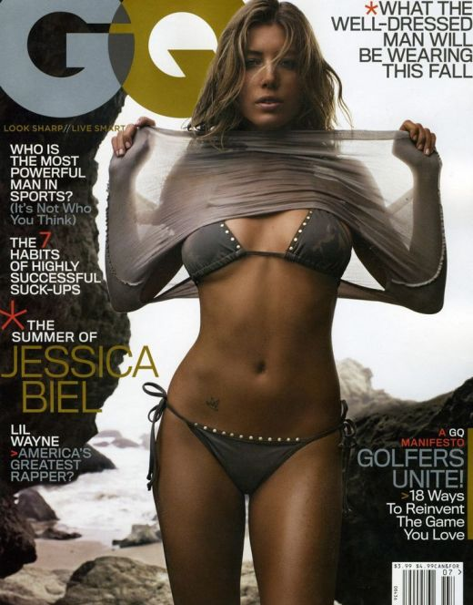 Джессика Бил на горячих фото из журнала GQ