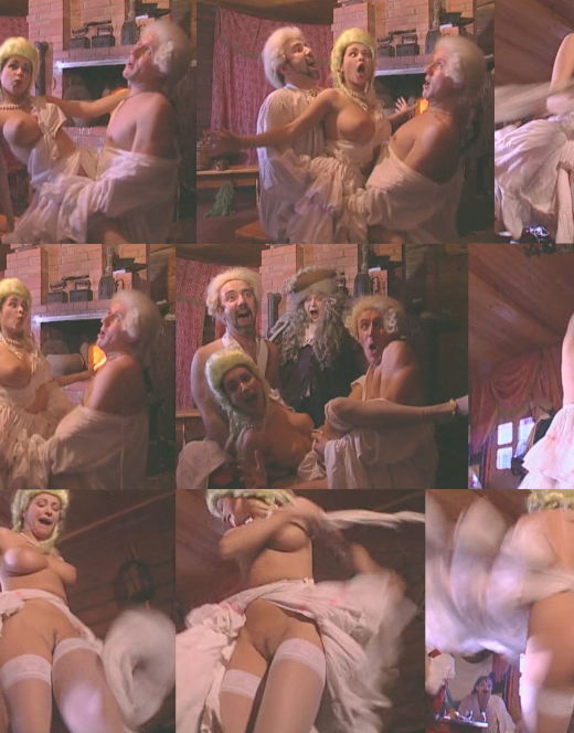 Обнаженная грудь и попа Любови Тихомировой в эротической сцене в бане