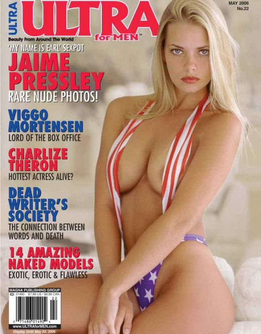 Эротические фото Джейми Прессли из журнала Ultra