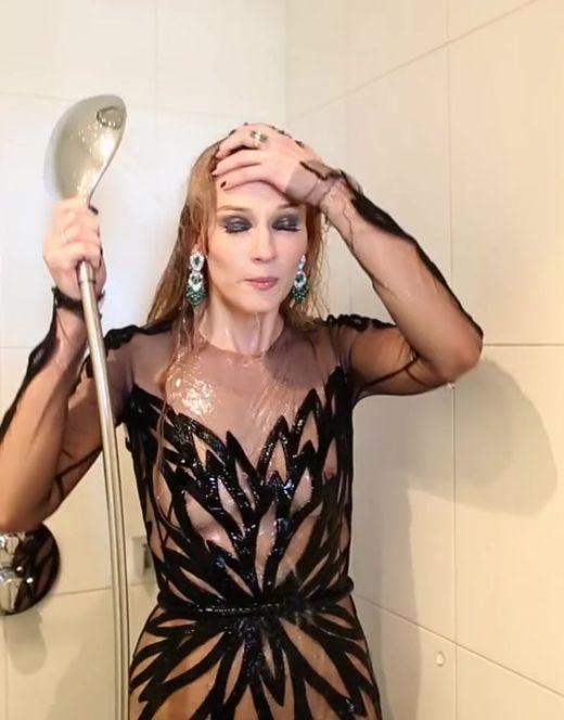 Засветы Светланы Ходченковой из фотосессии для Glamour (грудь)