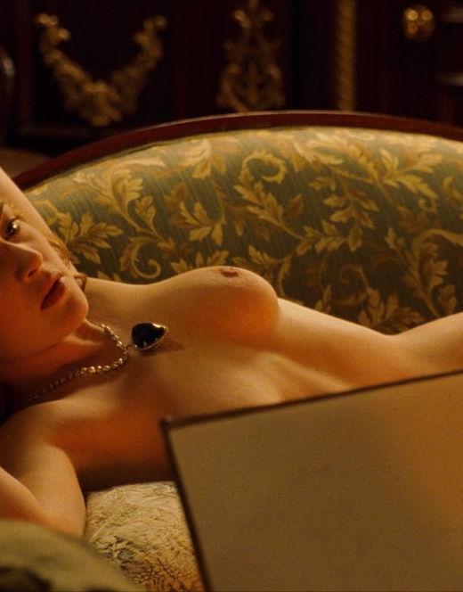 Обнаженная Кейт Уинслет из фильма «Титаник»
