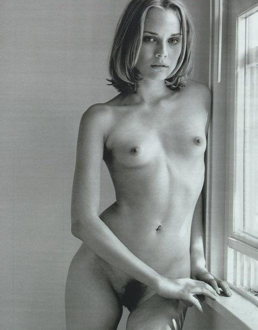 Голая Дайана Крюгер на черно-белых фото