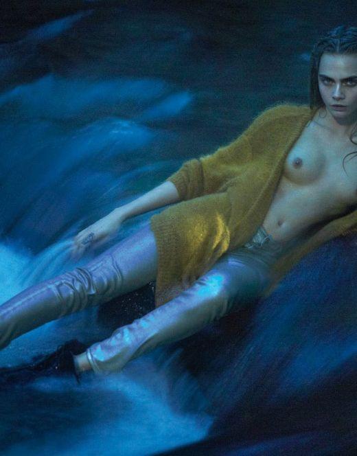 Горячие фото Кары Делевинь из журналов