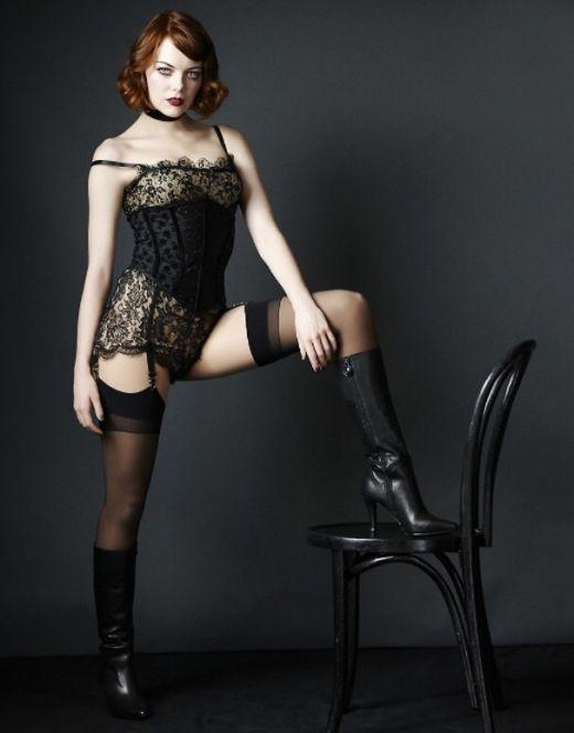 Обнаженная Эмма Стоун на горячих фото из журналов