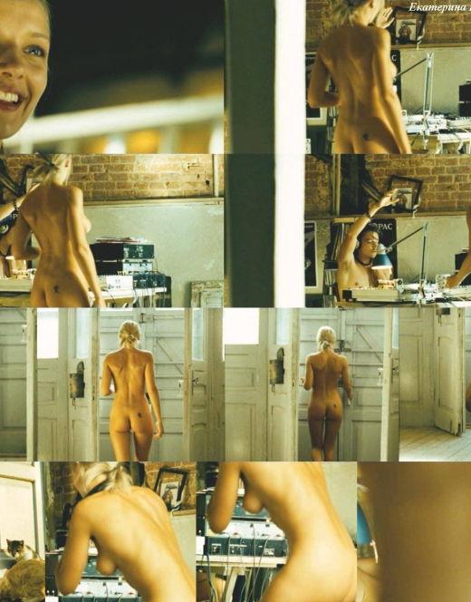 Голая Екатерина Вилкова на эротических кадрах из кино (грудь, попа, ножки)